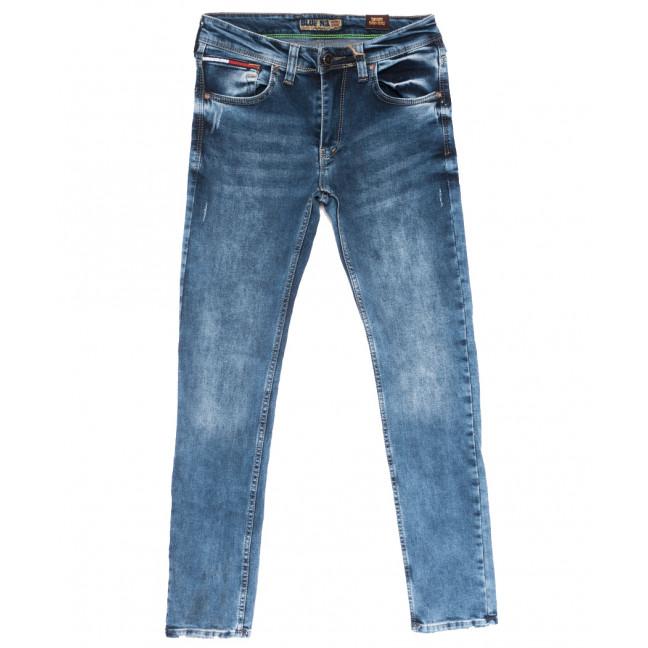6856 Blue Nil джинсы мужские с царапками синие весенние стрейчевые (29-36, 8 ед.) Blue Nil: артикул 1110119