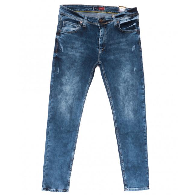 6889 Redcode джинсы мужские полубатальные c царапками синие весенние стрейчевые (32-40, 8 ед.) Redcode: артикул 1110139