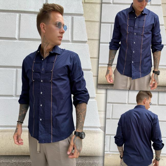 7079-5 Noseda рубашка мужская темно-синяя (S-XXL, 5 ед.) Noseda: артикул 1109890