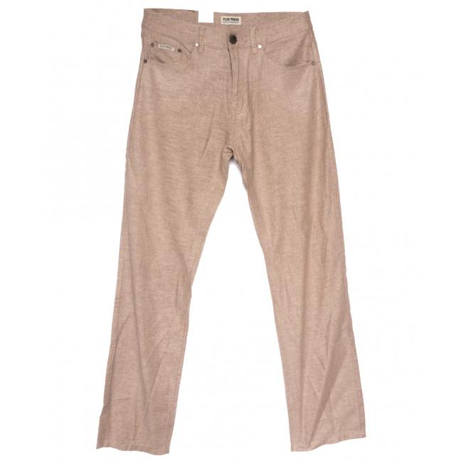 0307 Plus Press брюки мужские полубатальные темно-бежевые весенние коттоновые (32-42, 8 ед.) Plus Press: артикул 1110021