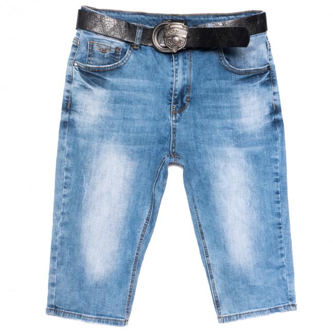 3106 Dknsel шорты джинсовые женские батальные с царапками синие стрейчевые (30-36, 6 ед.) Dknsel: артикул 1109610