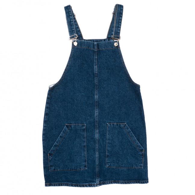 6123 сарафан джинсовый синий весенний коттоновый (XS-L, 6 ед.) Сарафан: артикул 1110307
