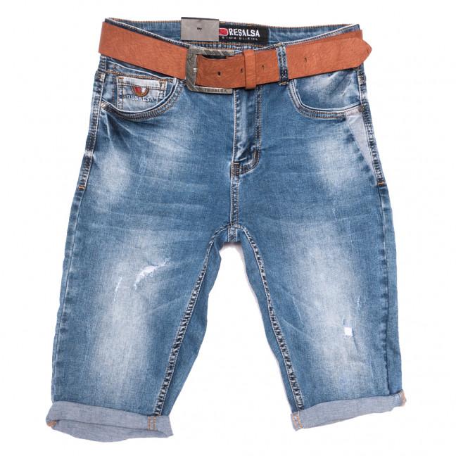 6077 Resalsa шорты джинсовые мужские с рванкой синие стрейчевые (29-36, 7 ед.) Resalsa: артикул 1109685