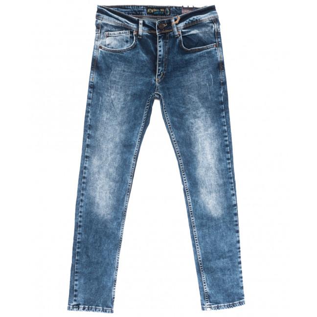 6858 Blue Nil джинсы мужские с царапками синие весенние стрейчевые (29-36, 8 ед.) Blue Nil: артикул 1110120
