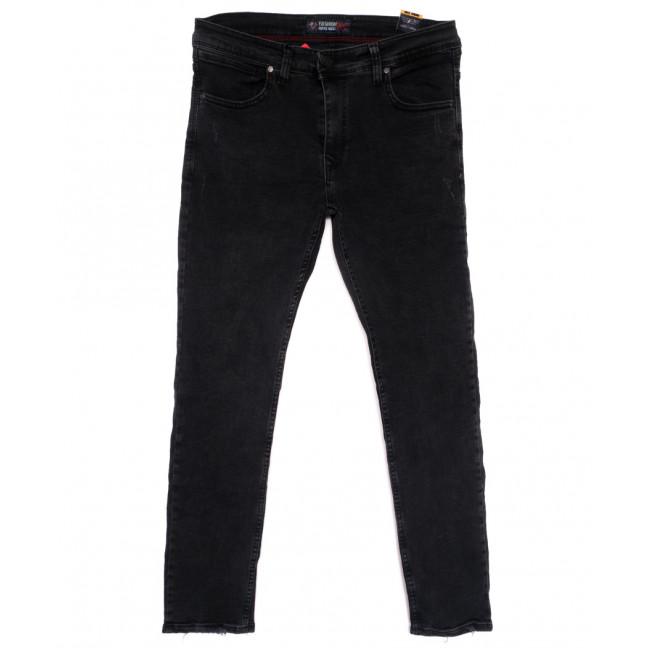6945 Fashion Red джинсы мужские полубатальные с царапками серые весенние стрейчевые (32-40, 8 ед.) Redcode: артикул 1110261