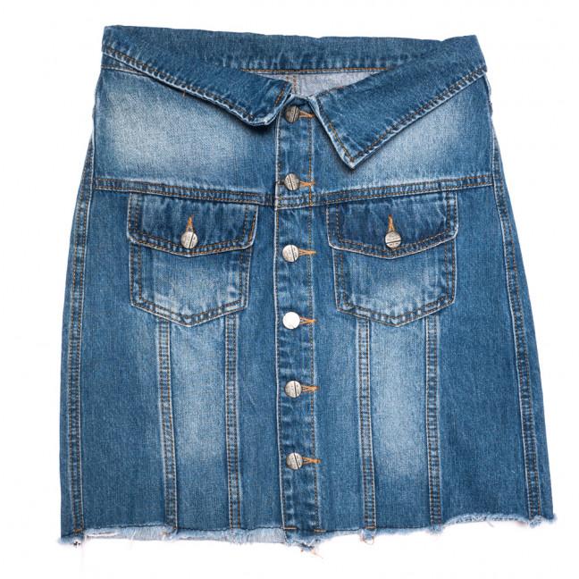 9900-5 V Relucky юбка джинсовая на пуговицах синяя осенняя коттоновая (25-30, 6 ед.) Relucky: артикул 1110591