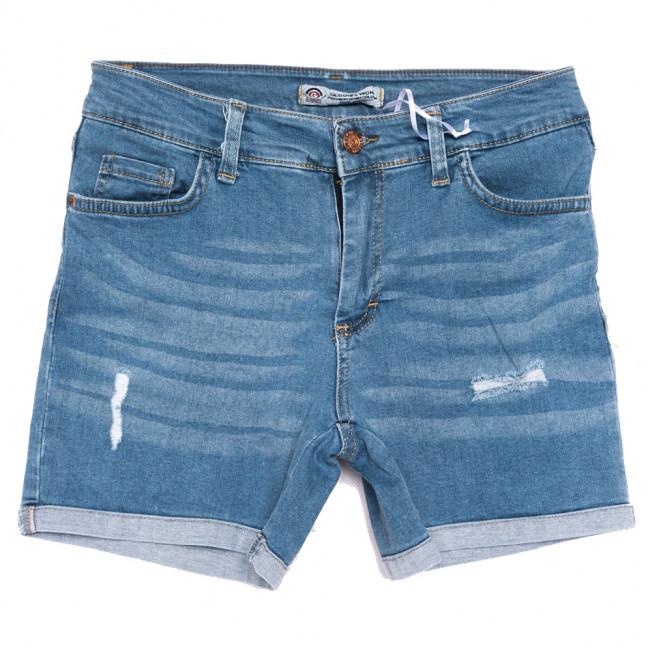 0315 Geronis шорты джинсовые женские с царапками синие стрейчевые (25-30, 8 ед.) Geronis: артикул 1110301
