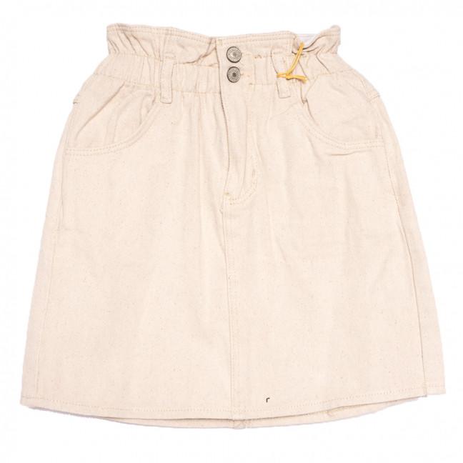 2098 777Plus юбка джинсовая бежевая весенняя коттоновая (25-32, 8 ед.) 777Plus: артикул 1110459