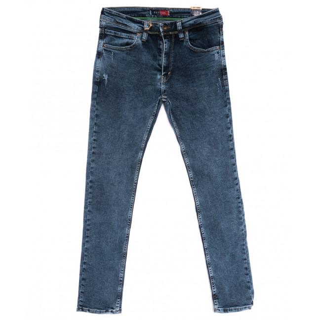 6947 Redcode джинсы мужские полубатальные с царапками синие стрейчевые (32-40, 8 ед.) Redcode: артикул 1110253