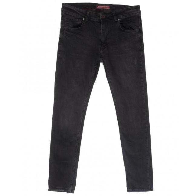 6501 Fashion red джинсы мужские полубатальные c царапками серые весенние стрейчевые (32-40, 8 ед.) Fashion Red: артикул 1110136