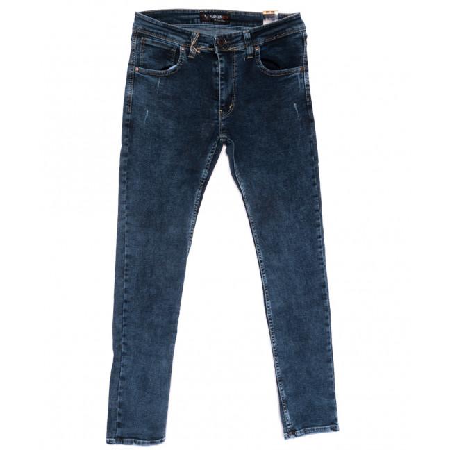 6950 Fashion red джинсы мужские полубатальные с царапками синие стрейчевые (32-40, 8 ед.) Fashion Red: артикул 1110251