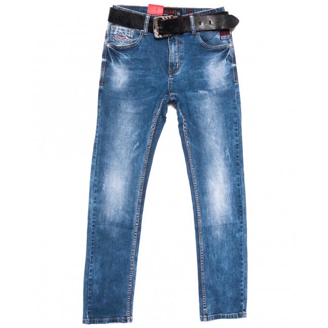 9719 Resalsa джинсы мужские с царапками синие весенние стрейчевые (30-38, 7 ед.) Resalsa: артикул 1109727