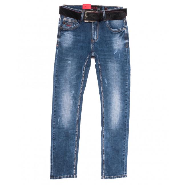 9619 Resalsa джинсы мужские с царапками синие весенние стрейчевые (29-36, 7 ед.) Resalsa: артикул 1109729