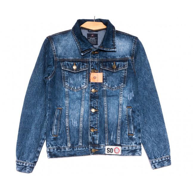 0222-1 A Relucky куртка джинсовая женская с царапками синяя осенняя коттоновая (S-XXL, 6 ед.) Relucky: артикул 1110373