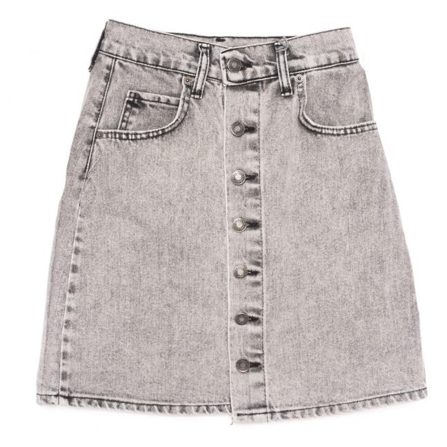 0034-18 Xray юбка джинсовая на пуговицах серая коттоновая (34-40,евро, 6 ед.) XRAY: артикул 1109864