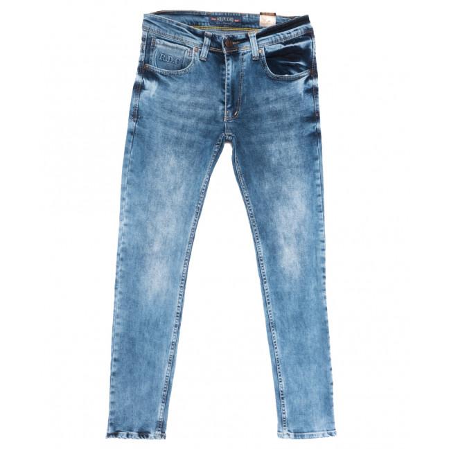 6849 Redcode джинсы мужские c царапками синие весенние стрейчевые (29-36, 8 ед.) Redcode: артикул 1110125