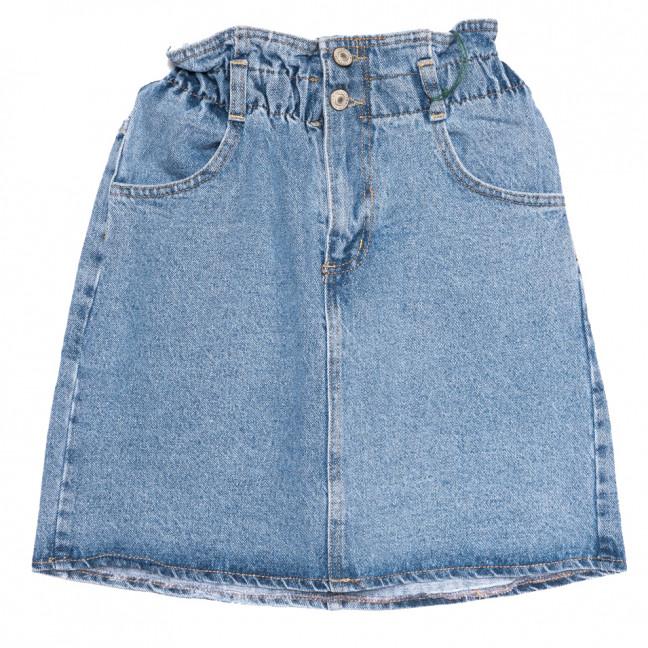 2103 777Plus юбка джинсовая синяя весенняя коттоновая (25-32, 7 ед.) 777Plus: артикул 1110782