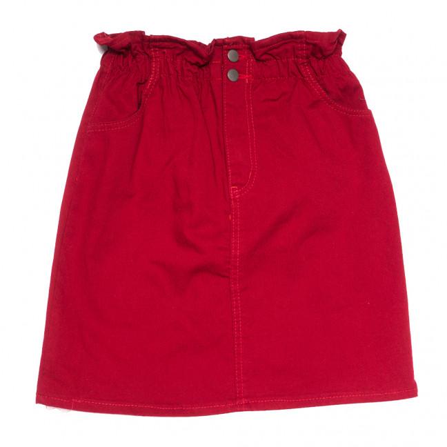 34413 бордовая Defile юбка джинсовая весенняя коттоновая (34-40,евро, 7 ед.) Defile: артикул 1110706