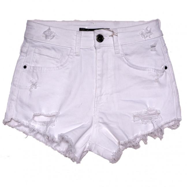 1502 Esqua шорты джинсовые женские с рванкой белые стрейчевые (26-31, 6 ед.) Esqua: артикул 1110716