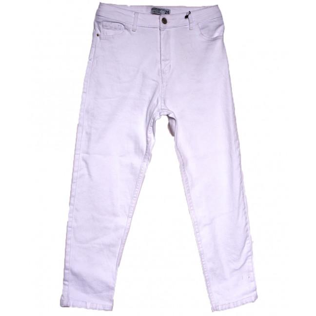 5900 Forgina джинсы женские полубатальные белые весенние стрейчевые (29-34, 6 ед.) Forgina: артикул 1110793