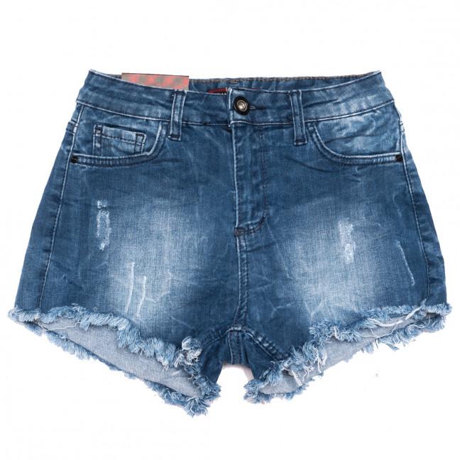 0829 синие Redmoon шорты джинсовые женские с царапками стрейчевые (25-30, 6 ед.) REDMOON: артикул 1110725