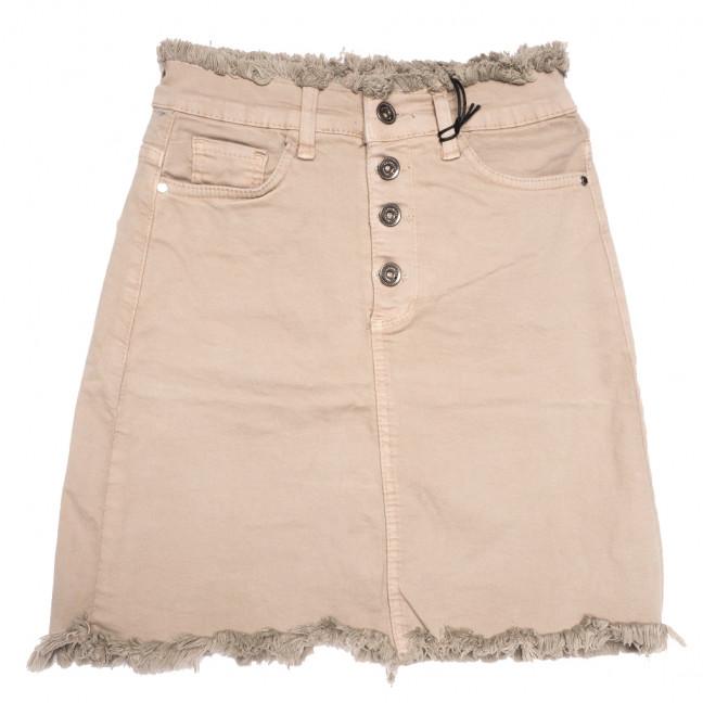 0537 Redmoon юбка джинсовая бежевая весенняя стрейчевая (25-30, 6 ед.) REDMOON: артикул 1110728