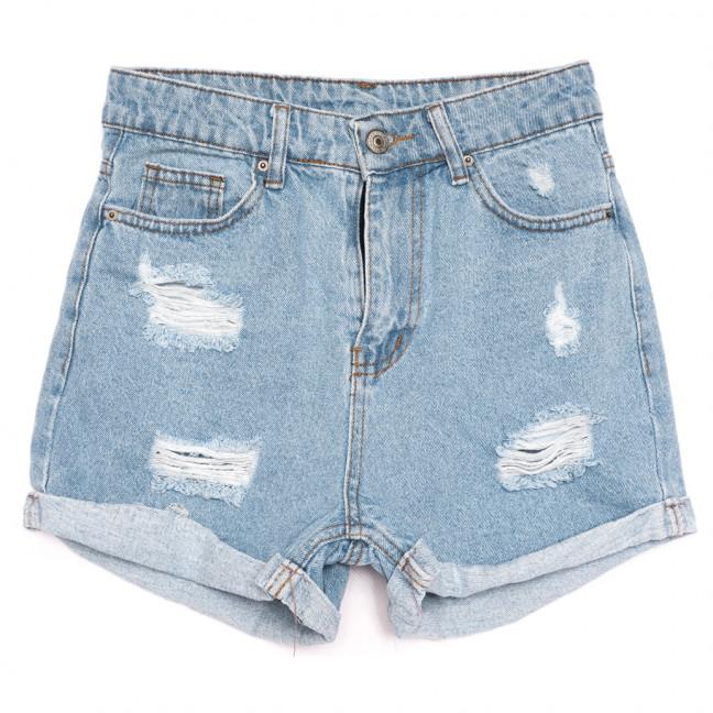 3395 шорты джинсовые женские с рванкой синие коттоновые (25-30, 8 ед.) Шорты: артикул 1110674