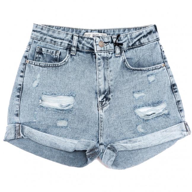 40302 Real Focus шорты джинсовые женские с рванкой синие коттоновые (26-30, 5 ед.) Real Focus: артикул 1110695