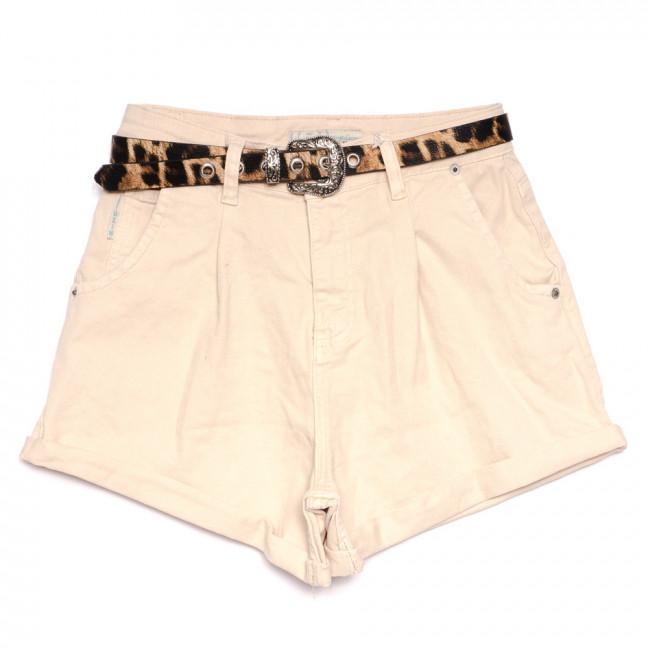 9883 бежевые Liuzin шорты джинсовые женские стрейчевые (25-30, 6 ед.) Liuzin: артикул 1110839