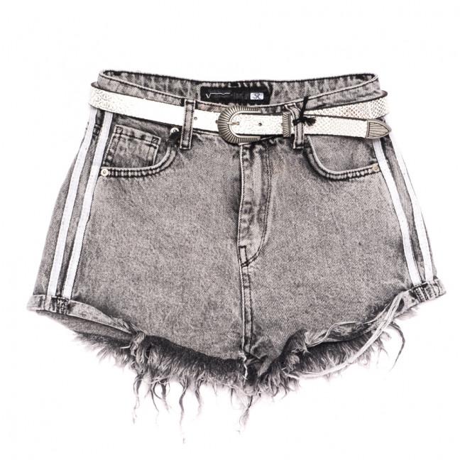 0324 Sherocco шорты джинсовые женские серые коттоновые (25-30, 6 ед.) SheRocco: артикул 1110821