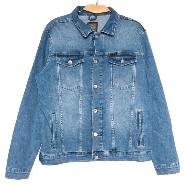 0121 голубая Pitbull куртка джинсовая мужская полубатальная весенняя стрейчевая (L-3X, 5 ед.) Pitbull: артикул 1110740