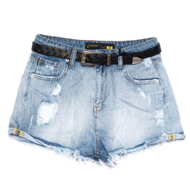 0321 Sherocco шорты джинсовые женские с рванкой синие коттоновые (25-30, 6 ед.) SheRocco: артикул 1110826