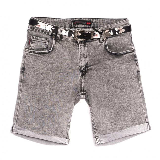 0312 Sherocco шорты джинсовые женские полубатальные серые стрейчевые (28-33, 6 ед.) SheRocco: артикул 1110846