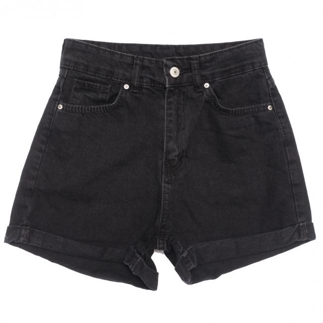 21056 шорты джинсовые женские черные коттоновые (25-32, 8 ед.) Шорты: артикул 1110699