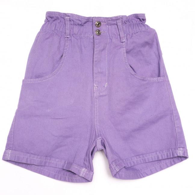 8013 сиреневые шорты джинсовые женские коттоновые (25-30, 8 ед.) Шорты: артикул 1110665