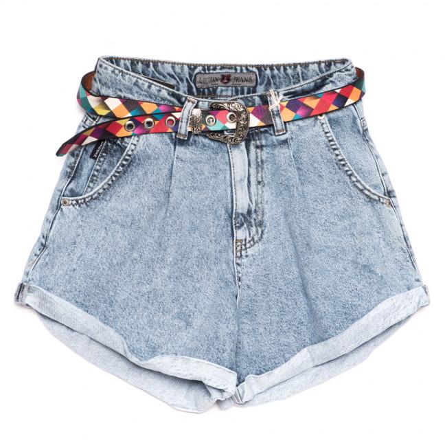 9884 Liuzin шорты джинсовые женские синие коттоновые (25-30, 6 ед.) Liuzin: артикул 1110830