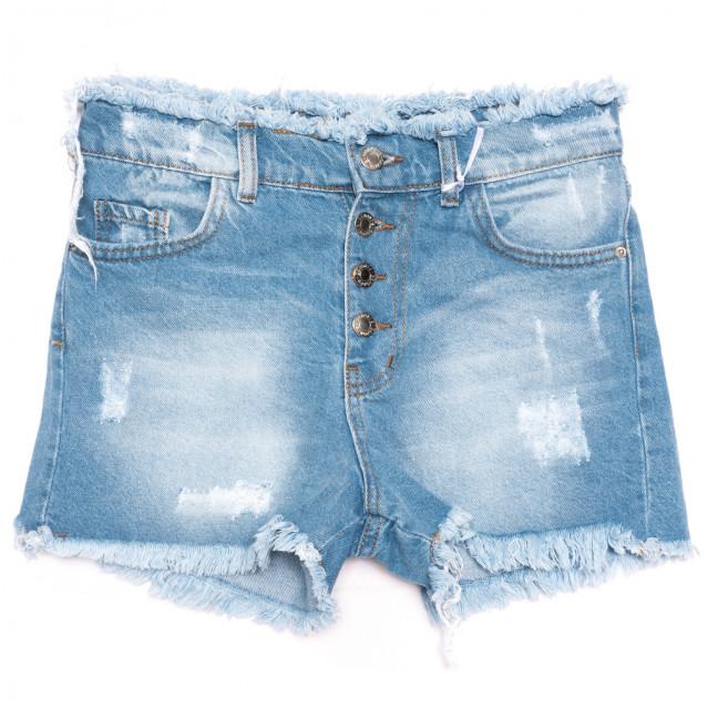 1336 Geronis шорты джинсовые женские с царапками синие коттоновые (34-42, 8 ед.) Geronis: артикул 1110675