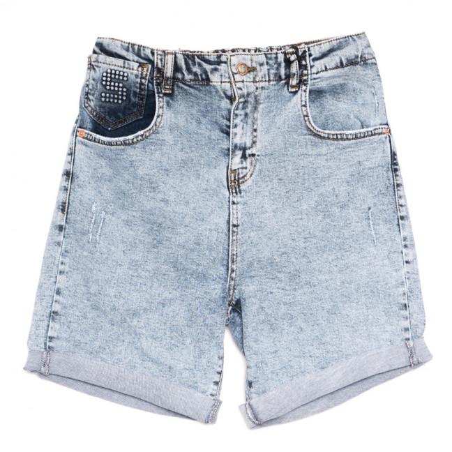 15419 Sessanta шорты джинсовые женские полубатальные с царапками синие стрейчевые (29-34, 6 ед.) Sessanta: артикул 1110849