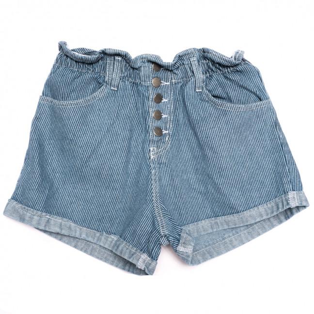 0226 полоска Defile шорты джинсовые женские на резинке коттоновые (34-40,евро, 6 ед.) Defile: артикул 1110667