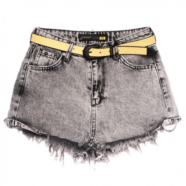 0307 Sherocco шорты джинсовые женские серые коттоновые (25-30, 6 ед.) SheRocco: артикул 1110833