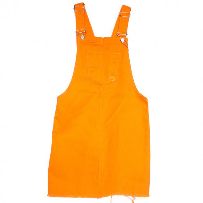 3454 Xray сарафан джинсовый оранжевый весенний коттоновый (34-40,евро, 6 ед.) XRAY: артикул 1110789