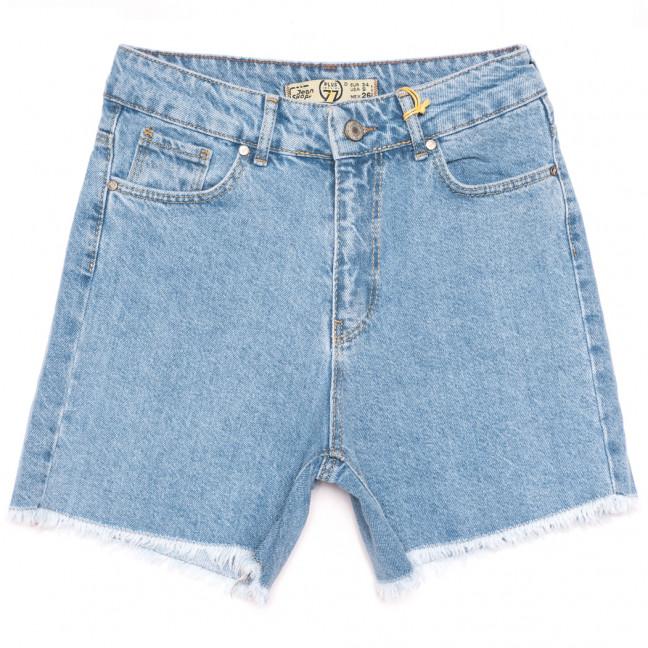 2094 777Plus шорты джинсовые женские синие коттоновые (25-32, 8 ед.) 777Plus: артикул 1110873