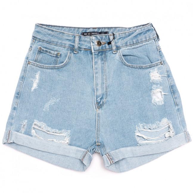 0608 Moonart шорты джинсовые женские с рванкой синие коттоновые (26-31, 6 ед.) MoonArt: артикул 1110696