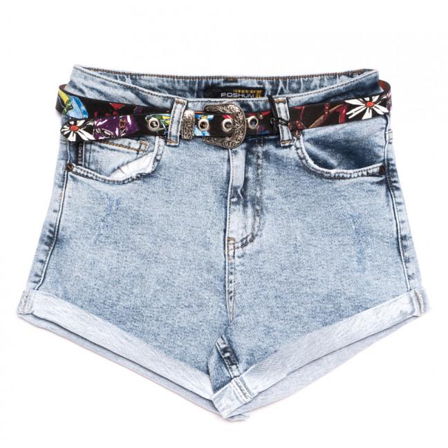 9882 Poshum шорты джинсовые женские синие стрейчевые (25-30, 6 ед.) Poshum: артикул 1110836