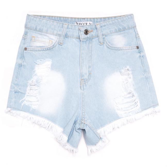 5875 Gecce шорты джинсовые женские с рванкой синие коттоновые (34-40,евро, 6 ед.) Gecce: артикул 1110688