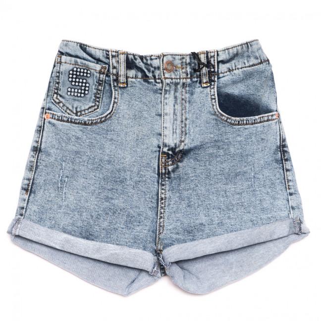 5419 Sessanta шорты джинсовые женские с царапками синие стрейчевые (25-30, 6 ед.) Sessanta: артикул 1110835