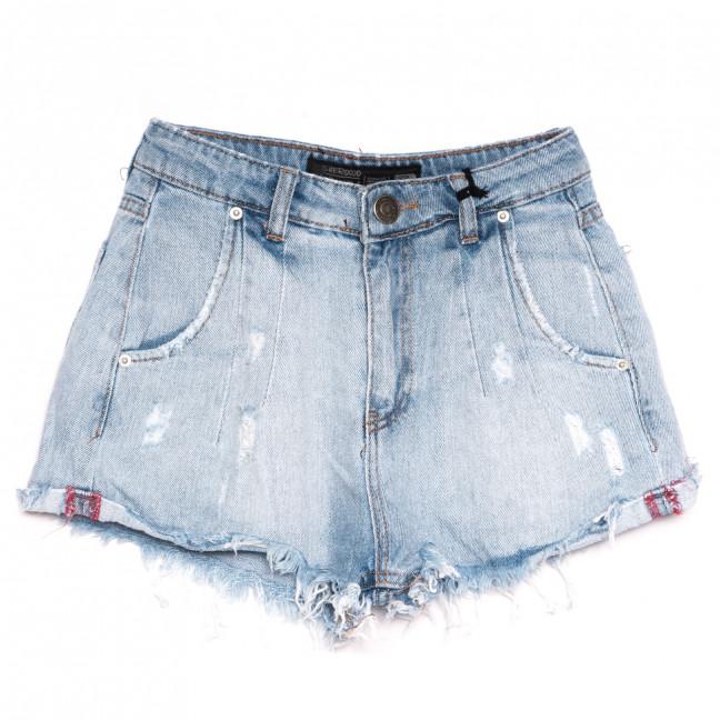 0318 Sherocco шорты джинсовые женские с царапками синие коттоновые (25-30, 6 ед.) SheRocco: артикул 1110832