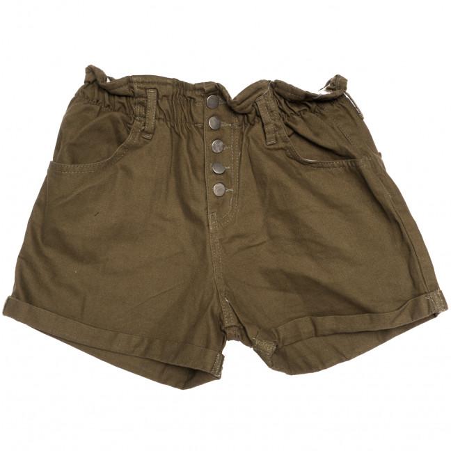 0226 хаки Defile шорты джинсовые женские на резинке коттоновые (34-40,евро, 6 ед.) Defile: артикул 1110666