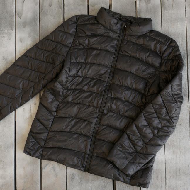 1712-02 куртка женская демисезонная черная на синтепоне (2XL,2XL,2XL, 3 ед.) Куртка: артикул 1110615