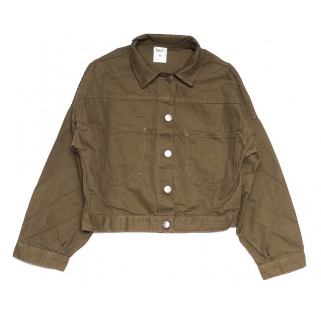 5974 Defile куртка джинсовая женская хаки весенняя коттоновая (S-L, 4 ед.) Defile: артикул 1110863